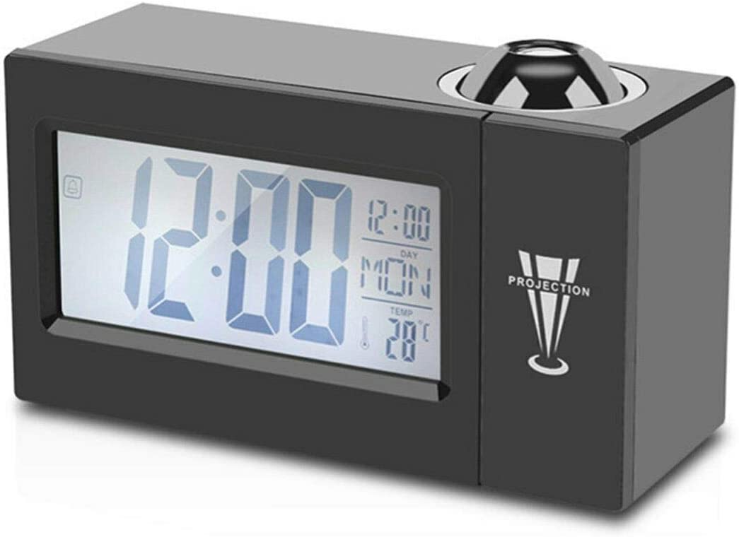 Classic Puseky LCD Digital LED Projector Austin Mall Projection Alarm Snooze Clock R