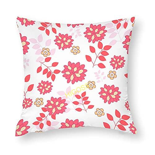 HIGOSS Fundas de almohada de algodón con diseño de flores silvestres, funda de cojín decorativa para el hogar, la escuela, la oficina de dcoration de 60 x 60,9