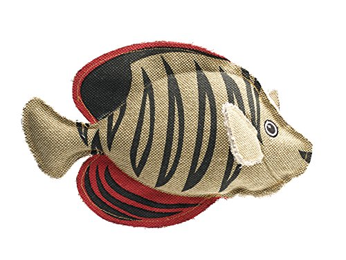 HUNTER CANVAS MARITIME ANGEL FISH Hundespielzeug, mit Baumwolle, Fisch, Vintage-Look, 27 cm
