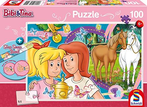 Schmidt Spiele Puzzle 56320 Bibi und Tina, Pferdeglück, 100 Teile Kinderpuzzle, bunt