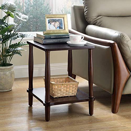 WSHFHDLC, tavolino da salotto in legno massello, tavolino piccolo quadrato alto 50 cm, tavolino moderno ovale accento tavolino piccolo tavolino piccolo (dimensioni: noce nero)