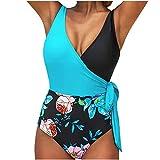 Bañadores Mujer Bikinis Mujer brasileños bañadores Mujer reductores Barriga Azul-A XL