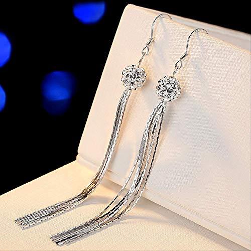 Pendiente cuelga pendientes largos de borla para mujer Bizuteria Piedras preciosas Brincos Aros Diamante Granate Pendiente Orecchini