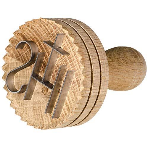 SIDCO Brotstempel Brotdrücker JHS Schreinerqualität Bäcker Stempel Drücker Holz groß