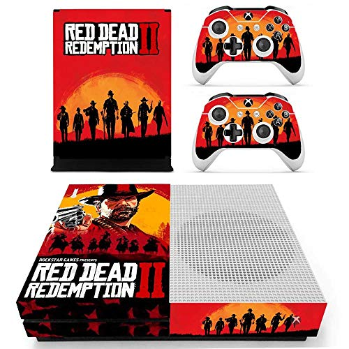 Red Dead Redemption 2 Skin Cover for Xbox One S Console and 2 Wireless Controller Protective Skin by Mr Wonderful Skin