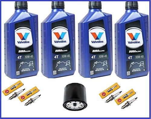 Kit Tagliando Honda Vt 600 Shadow 1998 - 4lt Olio Valvoline 15w50, Filtro Olio, 4 Candele