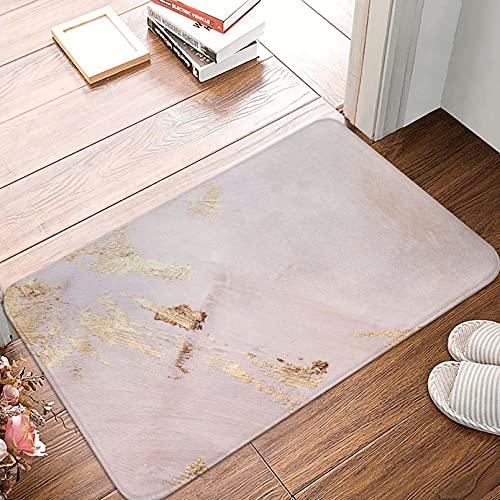 WCNMZQZMN Felpudo Oro Rosa con Trazos Dorados Textura Felpudo Alfombra Alfombra Alfombra Decoración para El Suelo Baño Baño Cocina Dormitorio Felpudo De Entrada Felpudo Interior Y Exterior