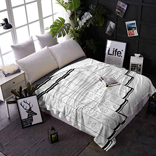 shirlyhome Soft Bed Blanket Throw Panpipe Long Service Life Pan Flute Tubes Monochrome Best Gift for Women, Men, Kid, Teen 50x60 Inch