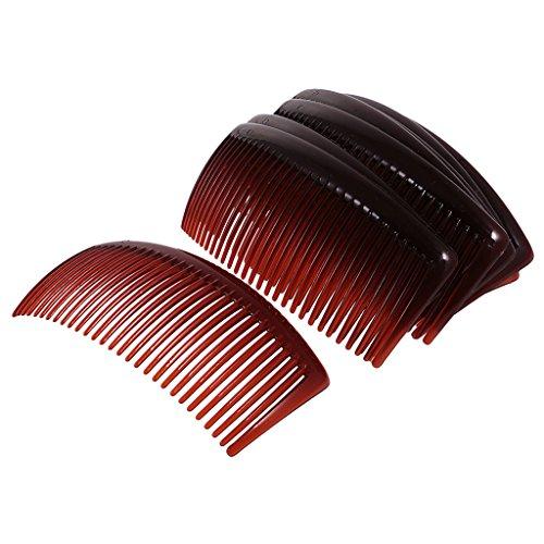 12 STK. Haarkamm Haarschmuck Haarclip 29 Zähne Einsteckkamm Mode Haar Zubehör - Kaffee