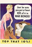 ERZAN大人のパズル1000WPA戦争プロパガンダは、少なくともその10パーセントを戦時国債に入れていることを確認してください減圧ジグソーおもちゃキッズギフト