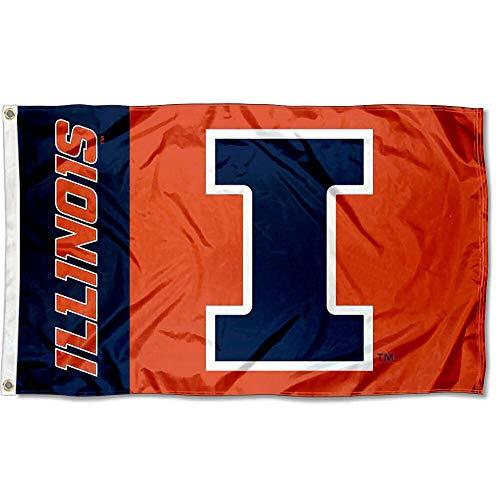 Illinois Fighting Illini Large 3x5 College Flag