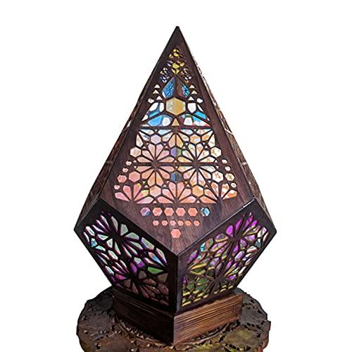 Yunyan Lámpara de pie de estilo bohemio de plástico, estilo bohemio, ligera, decoración de regalo para casa y jardín