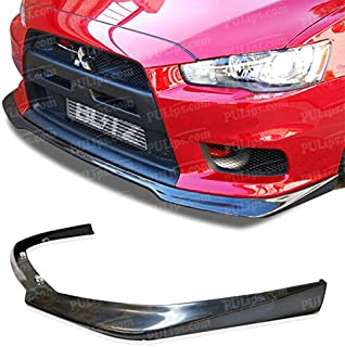PULIps MSEV08RALFAD - Ralliart Style Front Bumper Lip For Mitsubishi Evolution X 2008-2015