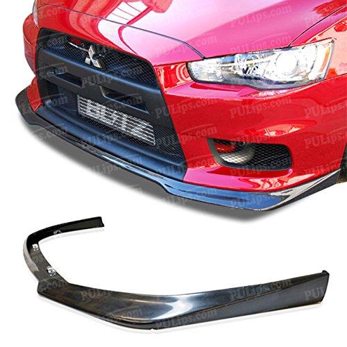 PULips(MSEV08RALFAD) Ralliart Style Front Bumper Lip For Mitsubishi Evolution X 2008-2015