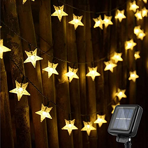 Solar String Lights - 100 LED Star Solar String Lights Outdoor Fairy Lights 8 Modes Waterproof Festival Lighting for Garden Patio Yard Home Wedding Party (Star String Light)