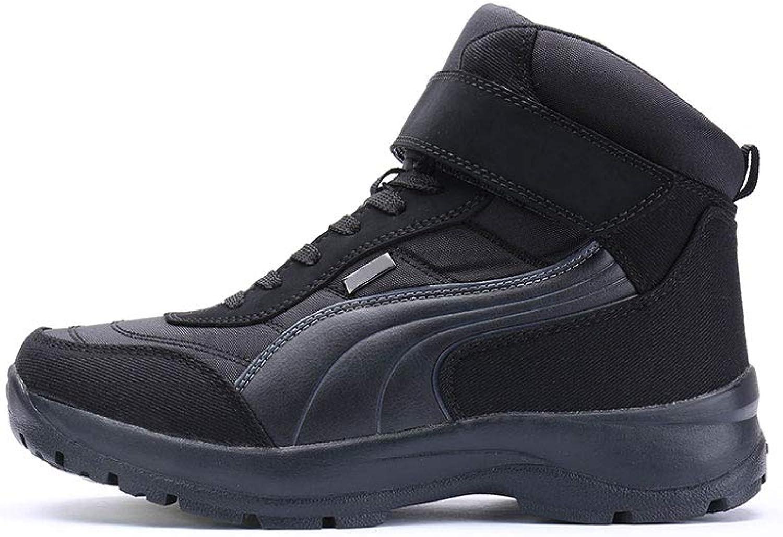 Ailj Snow Boots, Men's Warm Boots, Winter Boots, Flat Boots, Boots, Martin Boots, Cotton Boots, Non-Slip Waterproof, (Black) (color   Black, Size   40 EU 7.5 US 6.5 UK 25cm JP)