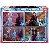 Educa- Multi 4 Junior Puzzle Infantil Frozen 2 de 50,80,100 y 150 Piezas, a Partir de 5 años (18640)