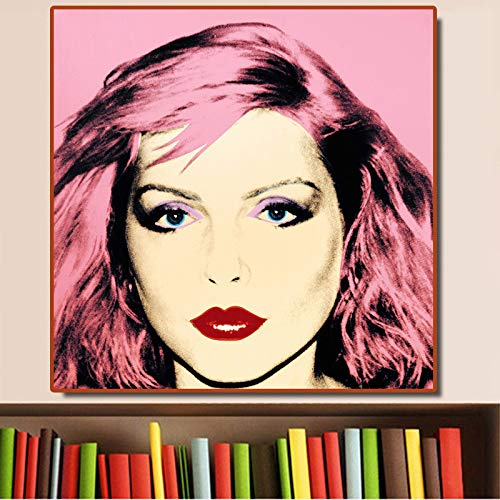 hetingyue Painter pop Art Painting on Canvas Portrait Posters and Prints modern Wall Decoration Pictures Frameless Painting 70X70CM
