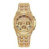 Reloj de Oro para Hombre con Reloj de Diamante para Hombre R