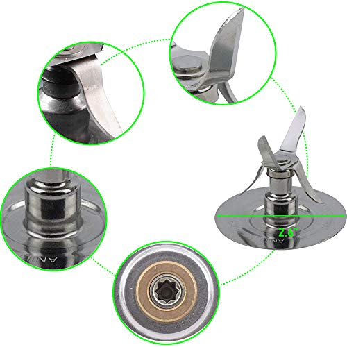 Replacement Part Kit for Oster Blender Ice Blades 4961, 4980 Bottom Cap 4902, Two Gaskets Coupling Kit Drive Stud, Pin , Slinger for Oster