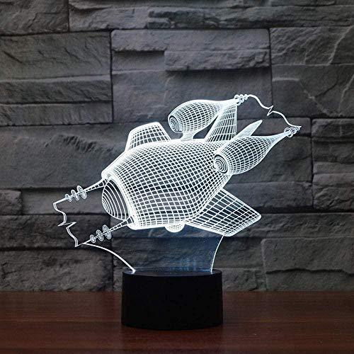 3D-Nachtlicht-U-Boot 3D-LED-Lampe Energiesparende USB-LED-3D-Leuchten Kreatives Geschenk Buntes visuelles Nachtlicht aus Acryl