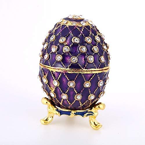 Home Decorations Eieren sieraden doos met strass, Huis Living Room, Office Decoraties, zinklegering Crafts, geschenken ornamenten ZHQHYQHHX