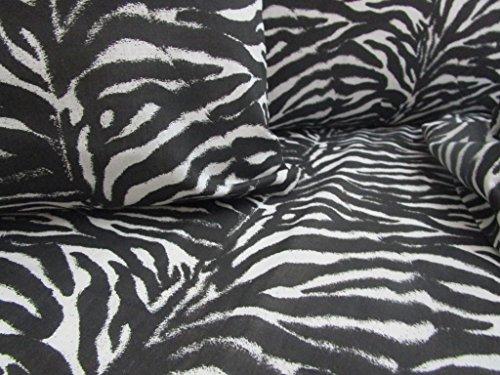 Pago Poco Überwurf, Motiv: Zebra, Maße: 260 x 260 cm, 100 % Baumwolle, hergestellt in Italien.