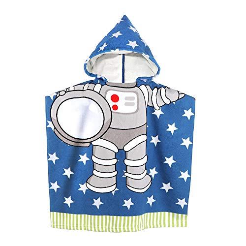 Kinder-Badetuch mit Kapuze für Babys Kleinkinder Kinder unter 6 Jahren, 60 x 61 cm Weiche Mikrofaser-Badetücher mit Kapuze für den Pool (Blau)