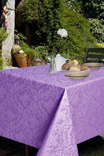 Mantel antimanchas redondo Ariadna 50%algodón 50%poliéster con protección de resina y Teflón de Dupont(R) - D160 - lila
