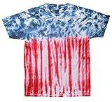 Gildan Tie Dye T-Shirts USA Flag Kids Sizes (Youth S (6-8))