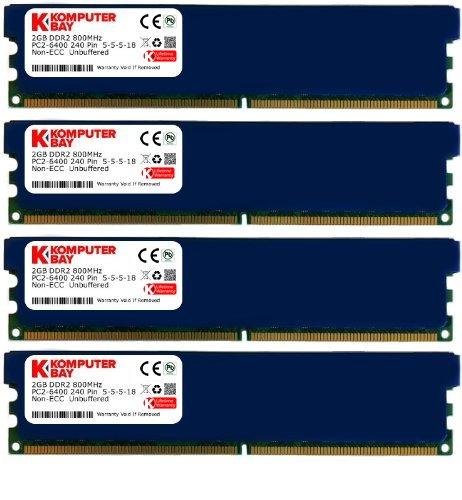 Komputerbay - Memoria DIMM para Ordenadores de Mesa (con disipadores) 8GB (4x2GB)