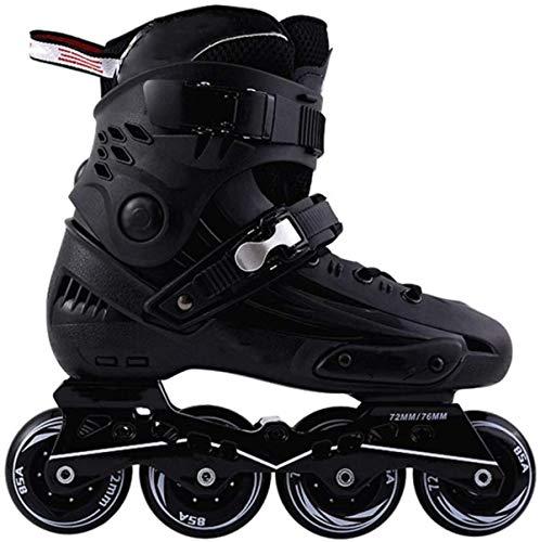 Patines en línea para adultos Patines Fila Patinaje de Velocidad Zapatos de Fibra de Carbono Principiante Deportes al aire libre Fitness para Hombres y Mujeres Patines Patines-Negro|| 41