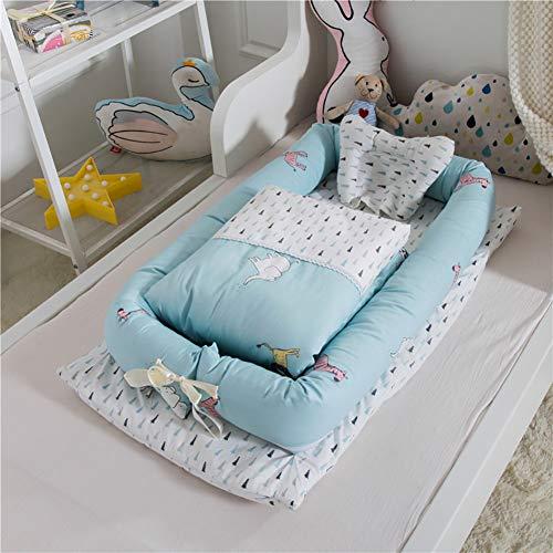 73PENNY Kinderbetten Baby Nest Bett Krippen Faltbares Spielbett Neonatales Alt Mehrere Stile Kuschelnest für Babys Reisebett Wickelauflage,Zoo
