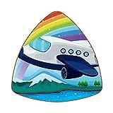 Bennigiry Un avión cerca del arco iris Set de 6 posavasos para bebidas caseras, taza de café, cerveza