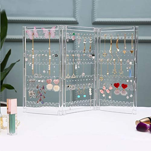 MUY New Plastics Earring Storage Doors Design Nice Jewelry Hanging Holder Rack Acrylics Jewelry Display Stand Earrings keepsake box Easter Gift for Women or Men