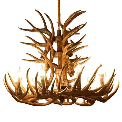 Hanglampen, hanglampen, kroonluchter, kroonluchter, hars, hertengewei, hertshoorn, hars, retro-lampen, verlichting voor thuis, voor woonkamer, bar, café, dining, hang- en hanglampen