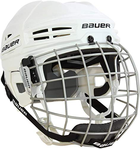 Bauer IMS 5.0 (II) Senior Hockey Helmet Combo, Medium, WhiteMediumWhite