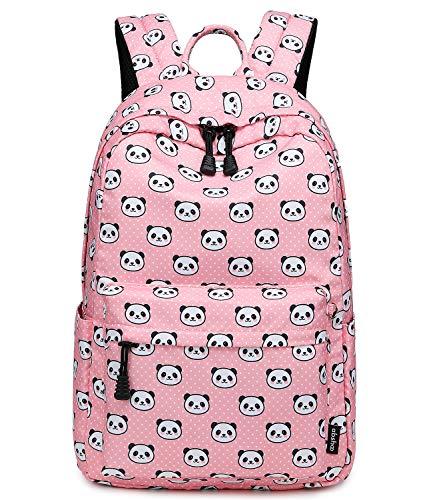 Abshoo Panda Printed School Backpacks For Girls Cute Elementary School Bookbags (Panda Pink)