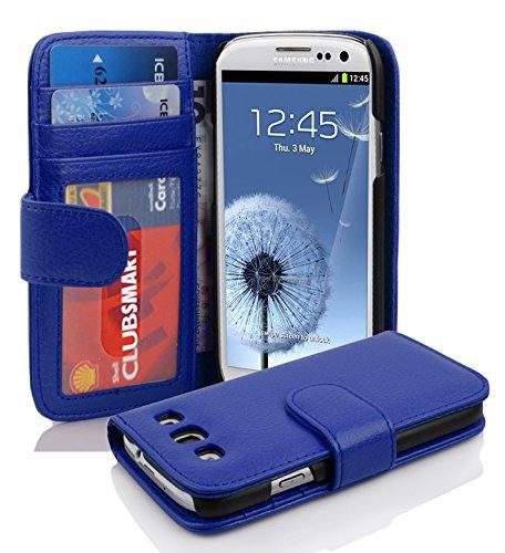 Cadorabo Hülle für Samsung Galaxy S3 / S3 NEO - Hülle in KÖNIGS BLAU – Handyhülle mit 3 Kartenfächern - Case Cover Schutzhülle Etui Tasche Book Klapp Style