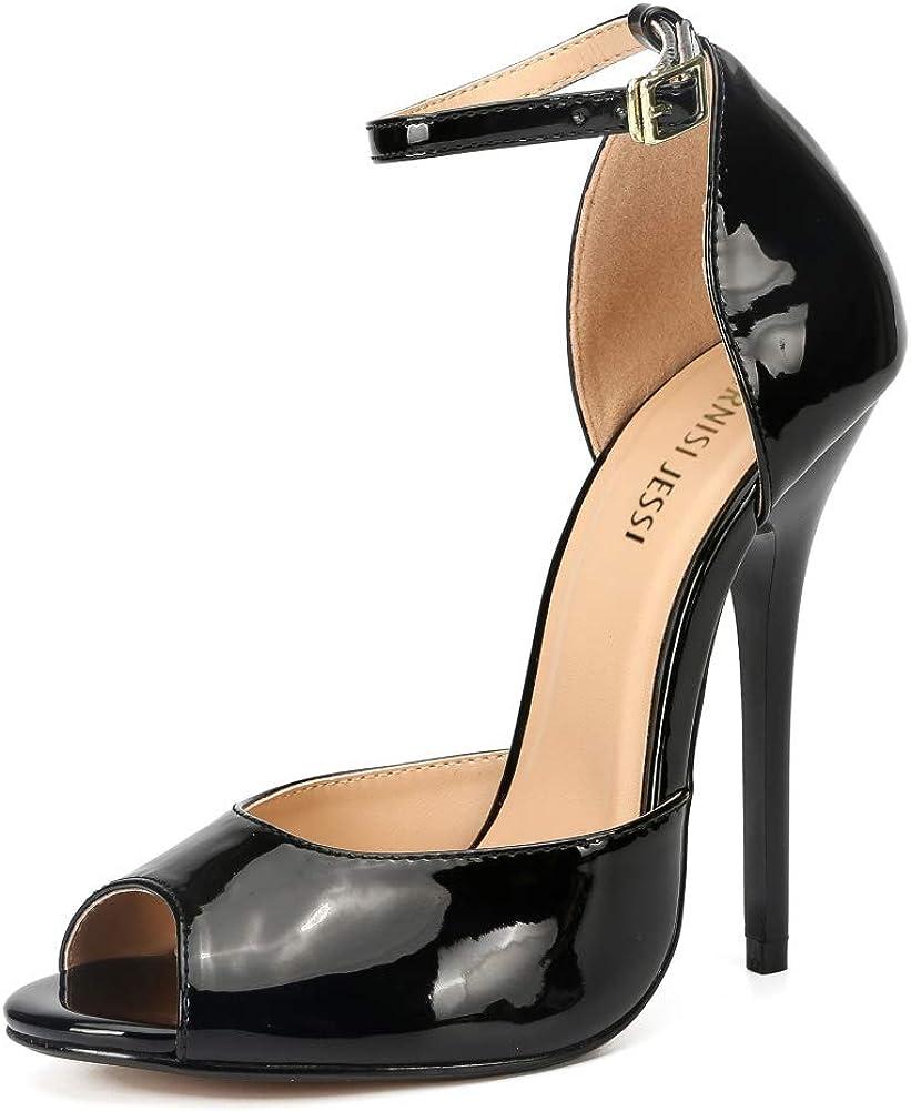 MAIERNISI JESSI Unisex Men's Women's Fashion Peep Max 52% OFF High Toe Heel Stiletto