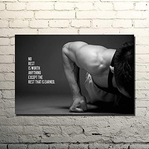 HNZKly Culturismo Motivacional Cita Pared Arte No Resto Vale Cualquier Cosa Excepto...