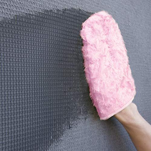 アズマ網戸掃除用ミトンTK網戸クロスPピンク網戸を外さず簡単おそうじ水だけでキレイに