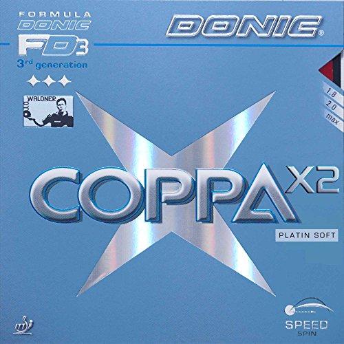DONIC Belag Coppa X2 Platin Soft, schwarz, 2,3 mm