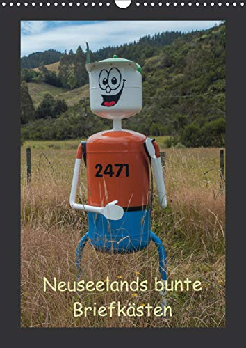 Neuseelands bunte Briefkästen (Wandkalender 2021 DIN A3 hoch)
