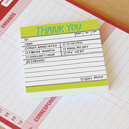 8-Pack Knock Knock Thank You Hand-Lettered Sticky Notes, Thank You Notes, 3 x 3-inches, 100 Sheets Each Photo #3