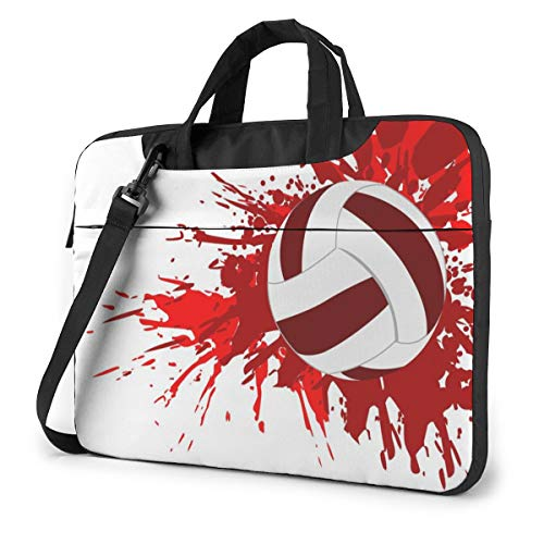 Laptop Shoulder Bag Carrying Laptop Case 15.6 Inch, Volleyball Splash Computer Sleeve Cover with Handle, Business Briefcase Protective Bag for Ultrabook, MacBook, Asus, Samsung, Sony, Notebook