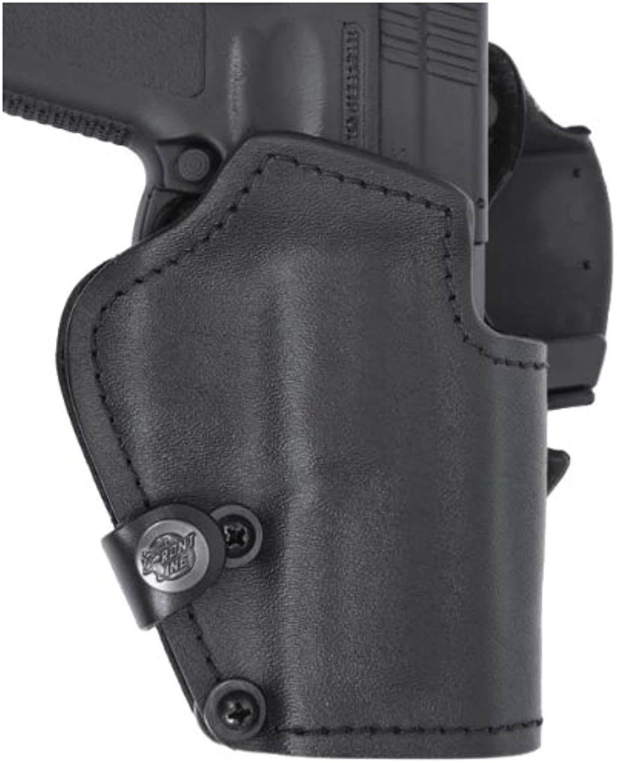 K4048CBK Open Top Kydex BFL Holster with Suede Lining, Black, Right