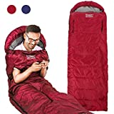 Sleeping Bag, Portable Lightweight 3-4 Season Sleeping Bags with Zippered Holes for Arms and Feet, Wearable Envelop Sleeping Bag for Adults Kids Camping, Hiking, Traveling