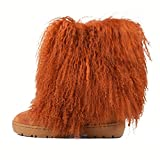 Cape Robbin Freezy Warm Winter Boots for Women Girls, Faux Fur Moon Boots, Ladies Winter Boots - Camel Size 11