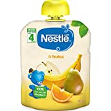 Nestlé Bolsita de puré de frutas, variedad 4 Frutas, para bebés a partir de 4 meses - Bolsita 90 gr